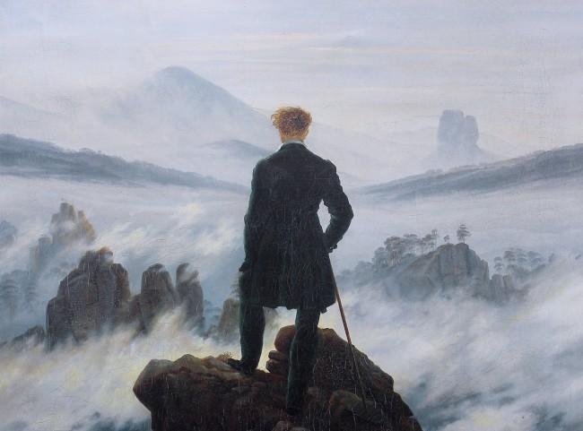 El caminante sobre el mar de nubes, de Caspar Friedrich