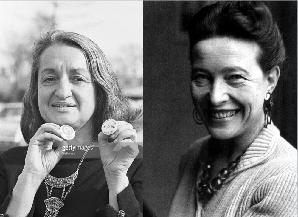 Betty Friedan y Simone de Beauvoir