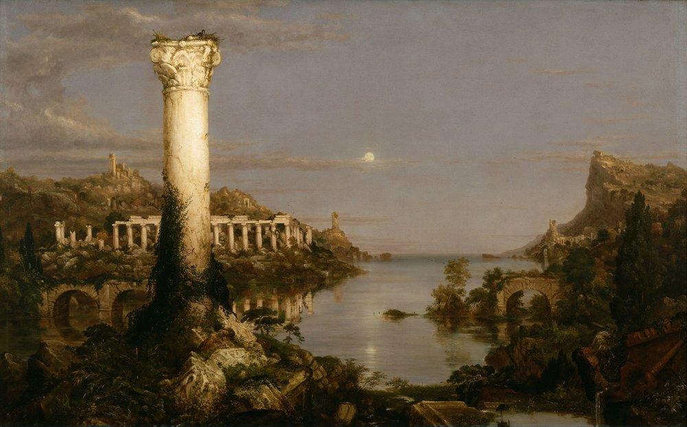 """Thomas Cole """"El curso del Imperio. Desolación""""."""