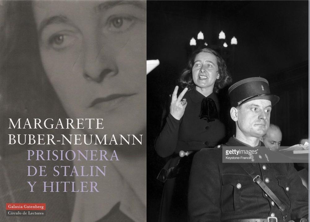 """Margarete Buber-Neumann sufrió la represión de de los dos totalitarismo más representativos del siglo XX: el nazismo y el comunismo. A la derecho se la puede ver testificando a favor del desertor soviético Victor Kravchenko quien en su libro """"Elegí la libertad"""" describe su vida dentro de la Rusia comunista y deja en evidencia las semejanzas entre el nazismo y el comunismo."""