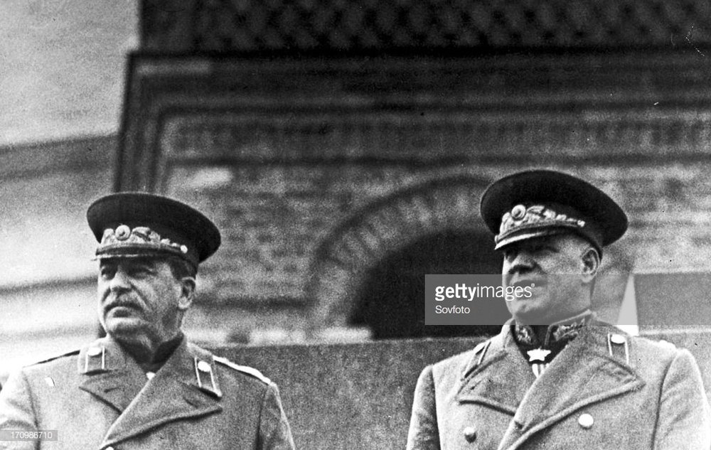 Stalin y Zhukov, Moscú (1945)