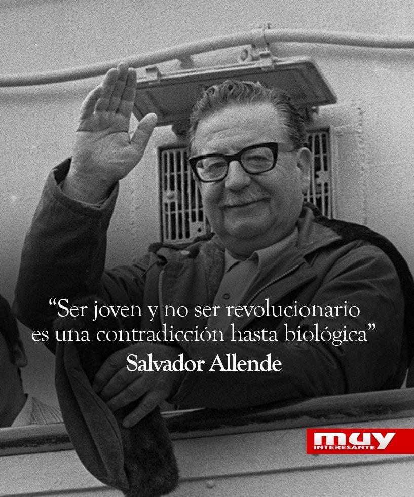 """Claramente que el concepto de """"revolucionario"""" y """"revolución"""" era bastante limitado y reduccionista en la concepción de Allende. ¿Qué entenderá por joven revolucionario?"""
