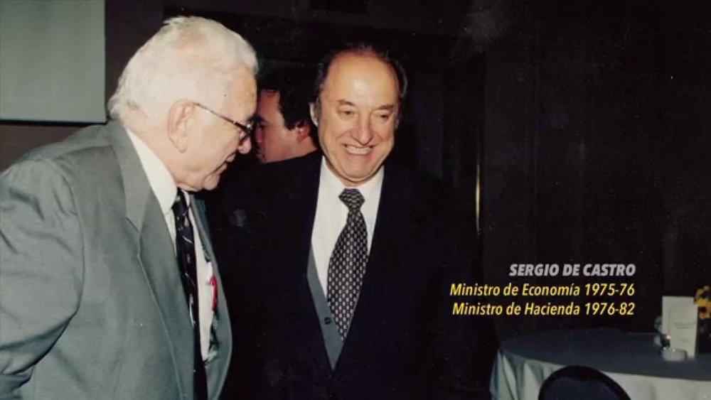 Arnold Harberger y Sergio de Castro