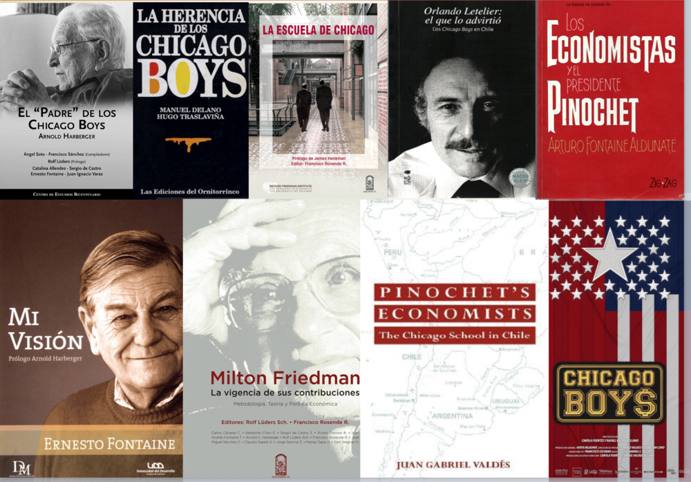 Numerosos libros se han escrito (al igual que documentales) para alabar o criticar la labor realizada por los economistas de Chicago (críticas que van desde aspectos éticos hasta otros más técnicos-económicos)