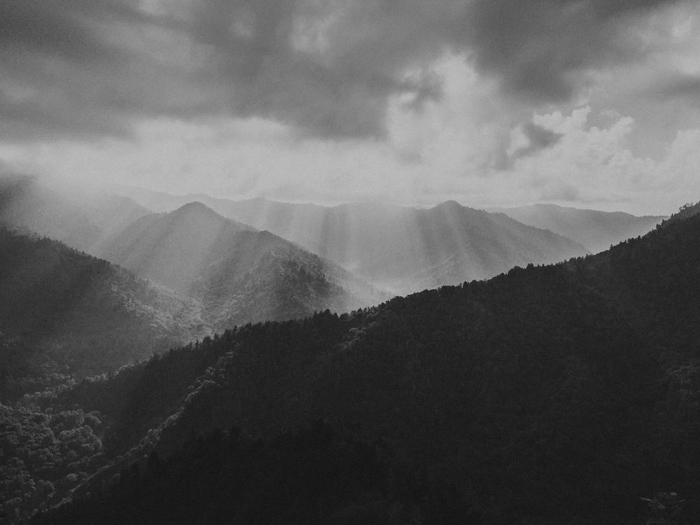 Chimney Tops Hiking Trail in Smoky Mountain National Park near Gatlinburg TN