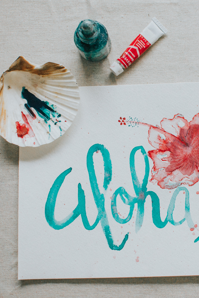 Watercolor Paint Aloha | Tampa, FL | Aloha Shii