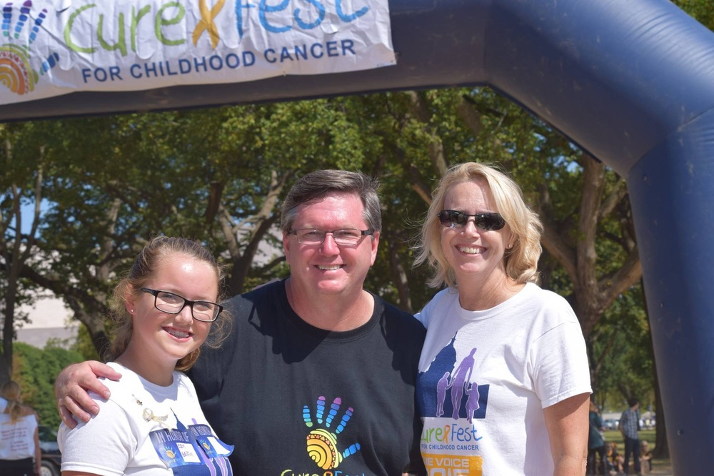 Mike and his family at CureFest 2015