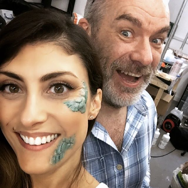 getting to learn from @nrgorton was an absolute d r e a m thank you so much to everyone at the @gorton_studio ⭐️ it was a truly unforgettabe experience • #tbt #rossgellersmile #notsurewhatsgoingonthere  prosthetics and colouring by the lovely @laragiffard  mu by me @urbandecaycosmetics perversion + flushed  Neill probably does his own...