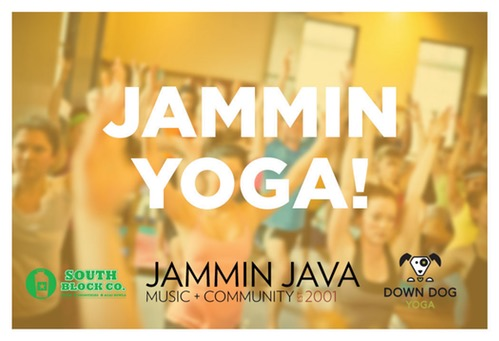 - Down Dog Yoga, South Block Juice, and Jammin Java have joined forces to offer JAMMIN YOGA - brand new, epically rocking pop-up yoga classes held on the last Sunday of every month, with proceeds benefitting Music Makes Life Better! Flow center stage to deep beats and rhythmic grooves, as DDY yoga instructors lead you through a powerful, invigorating, musical journey that will set your spirit free! BYOM (Bring your own mat); $10 Suggested Donation.100% of all donations after teacher and staff expenses support Music Makes Life Better and it's service projects.Daniel Brindley will be teaching!