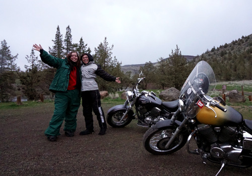 Marissa Long-Peak and I after getting lost three times trying to scout this camping site.
