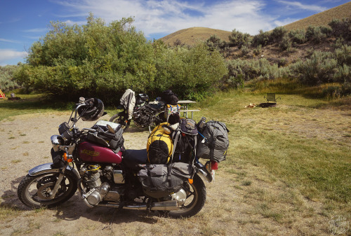 Our shared camping spot, in the Bannack Campground