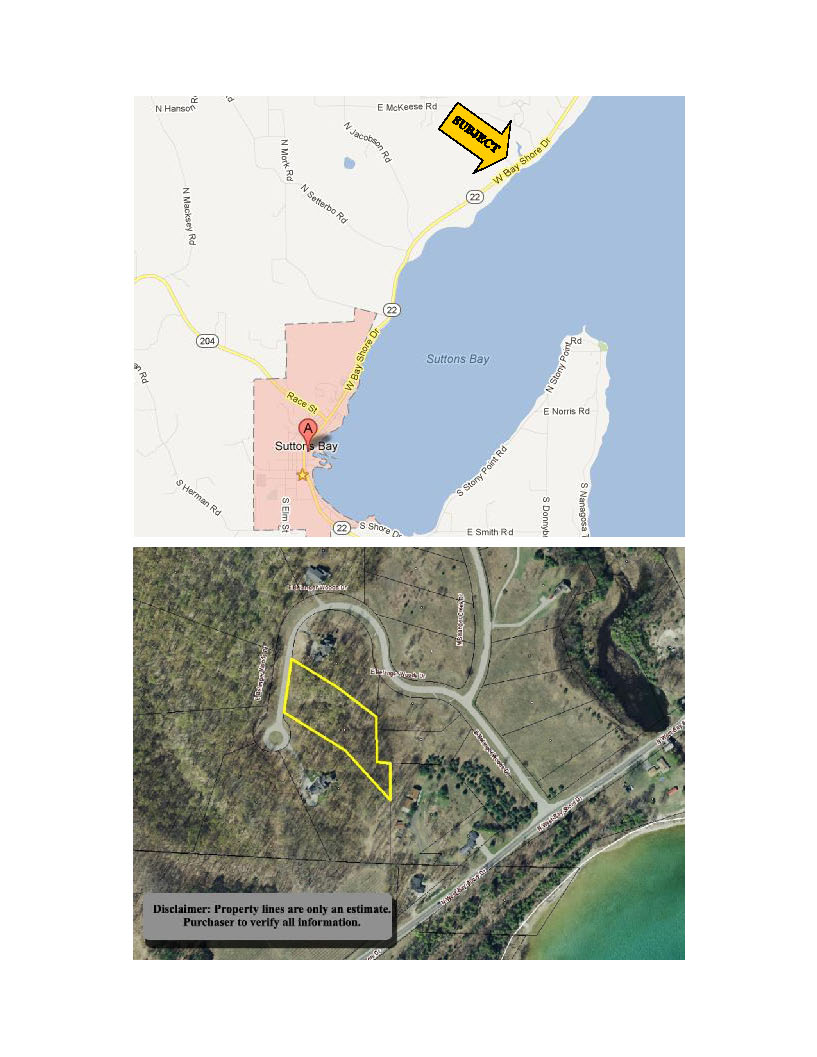 11638 E Belanger Woods Drive, Suttons Bay, MI, Leelanau County vacant land with water views of Grand traverse Bay, for sale by Oltersdorf Realty LLC, Leelanau County Realtors Vicky & Jonathan Oltersdorf marketing packe (2).jpg