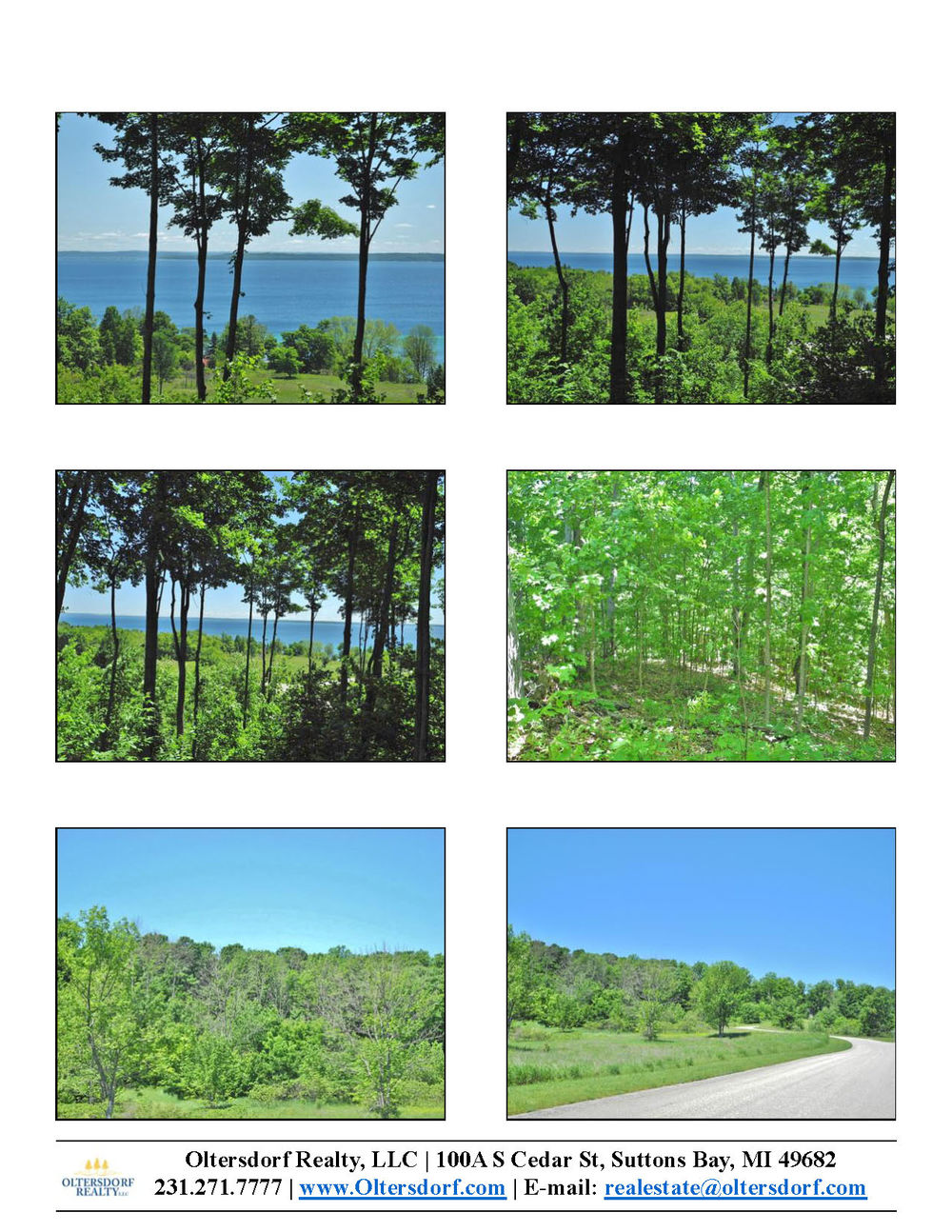 11638 E Belanger Woods Drive, Suttons Bay, MI, Leelanau County vacant land with water views of Grand traverse Bay, for sale by Oltersdorf Realty LLC, Leelanau County Realtors Vicky & Jonathan Oltersdorf marketing packet (1).jpg