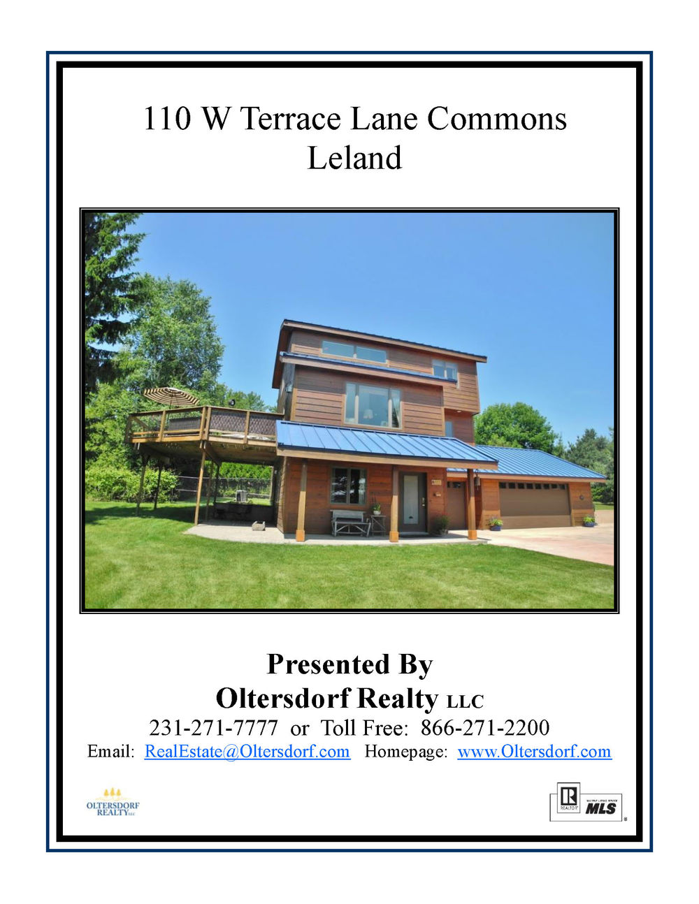 110 W Terrace Lane Commons, Leland, Leelanau County, Real Estate For Sale by Oltersdorf Realty Marketing Packet (1).jpg