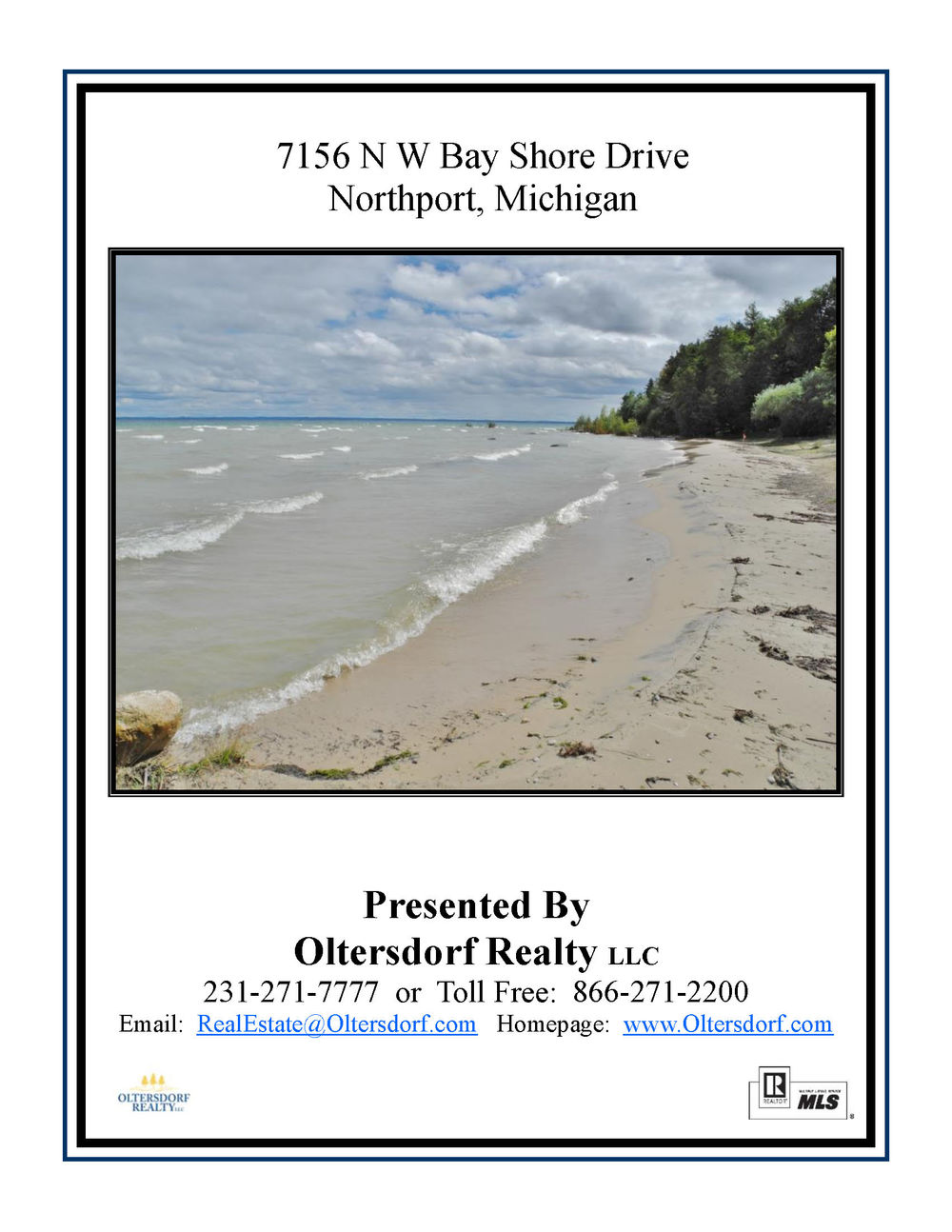 7156 N W Bay Shore Drive, Northport, MI Vacant waterfront lot for sale by Oltersdorf Realty LLC Marketing Packet (1).jpg