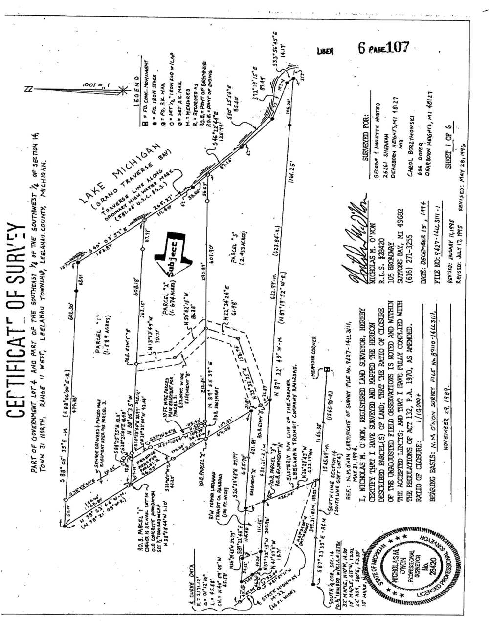 7156 N W Bay Shore Drive, Northport, MI Vacant waterfront lot for sale by Oltersdorf Realty LLC Marketing Packet (6).jpg