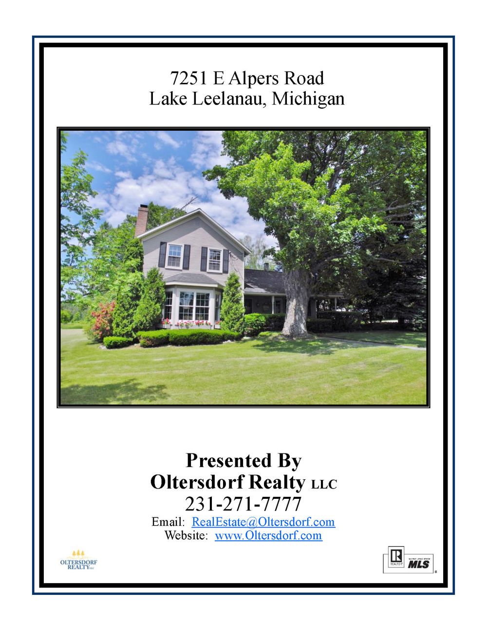 7251 E Alpers Road, Lake Leelanau, MI – Historic 1865 Centennial Inn For Sale By Oltersdorf Realty LLC Information Packet (1).jpg