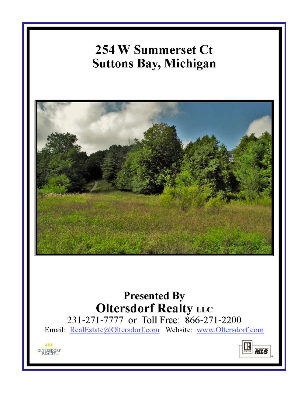 254 W Summerset Court, Village of Suttons Bay vacant lot for sale by Oltersdorf Realty, Suttons Bay Realtors - Marketing Packet (1).jpg