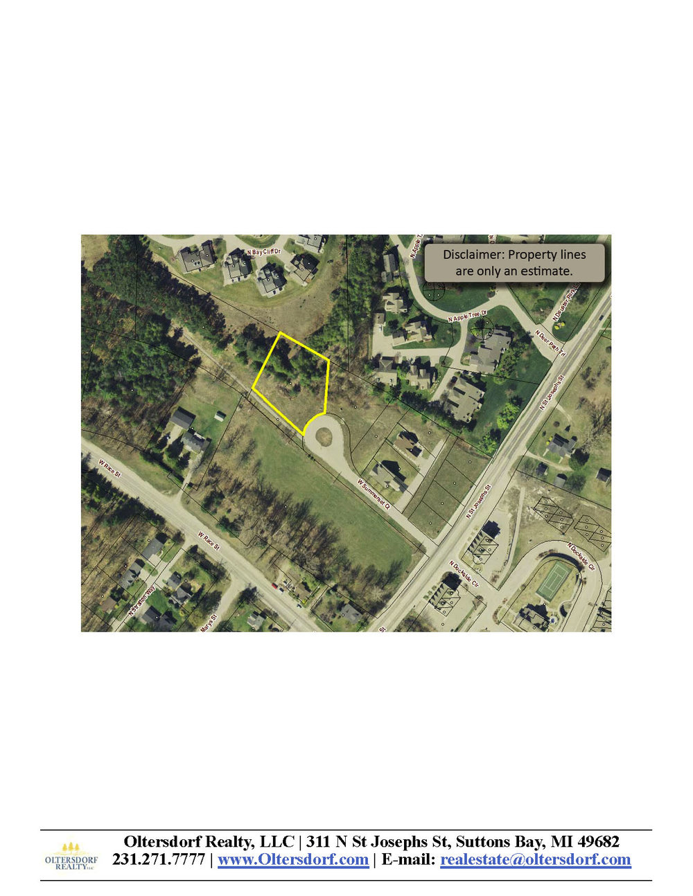 254 W Summerset Court, Village of Suttons Bay vacant lot for sale by Oltersdorf Realty, Suttons Bay Realtors - Marketing Packet (5).jpg