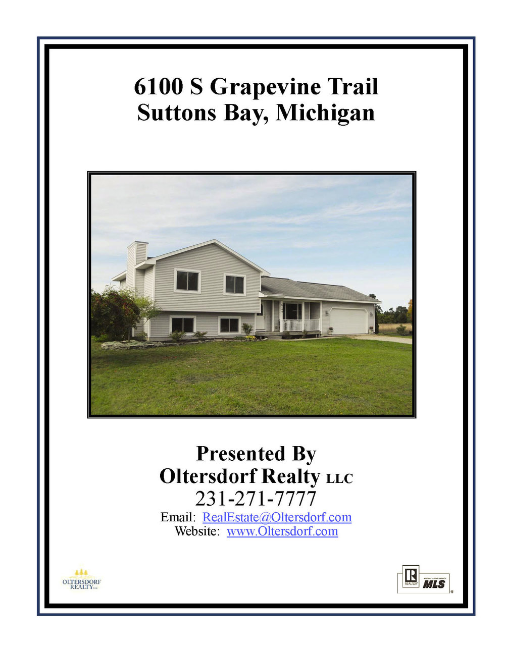 6100 S Grapevine Trail, Suttons Bay, Leelanau County Home for sale by Oltersdorf Realty LLC - Marketing Packet (1).jpg