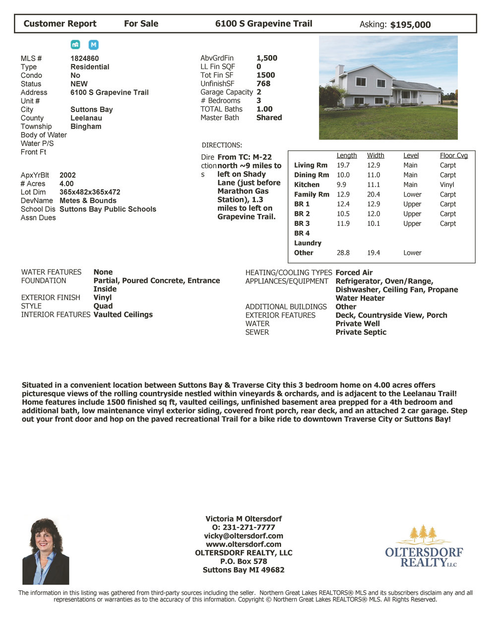 6100 S Grapevine Trail, Suttons Bay, Leelanau County Home for sale by Oltersdorf Realty LLC - Marketing Packet (6).jpg