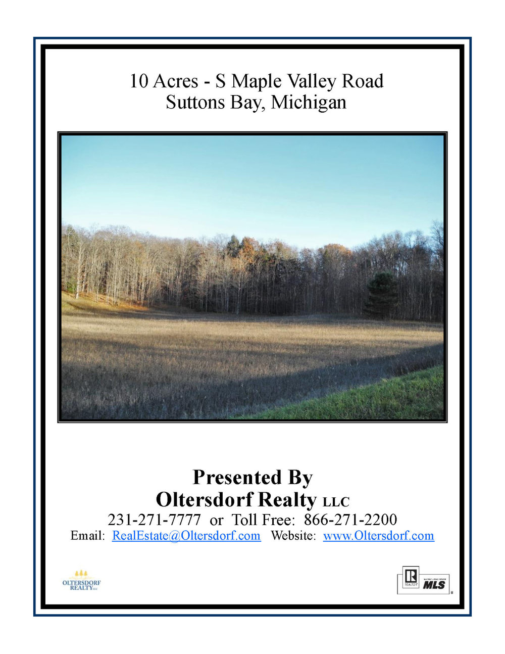 S Maple Valley Road, Suttons Bay, MI – 10.00 Acre Vacant Parcel  for sale by Oltersdorf Realty LLC (4).jpg