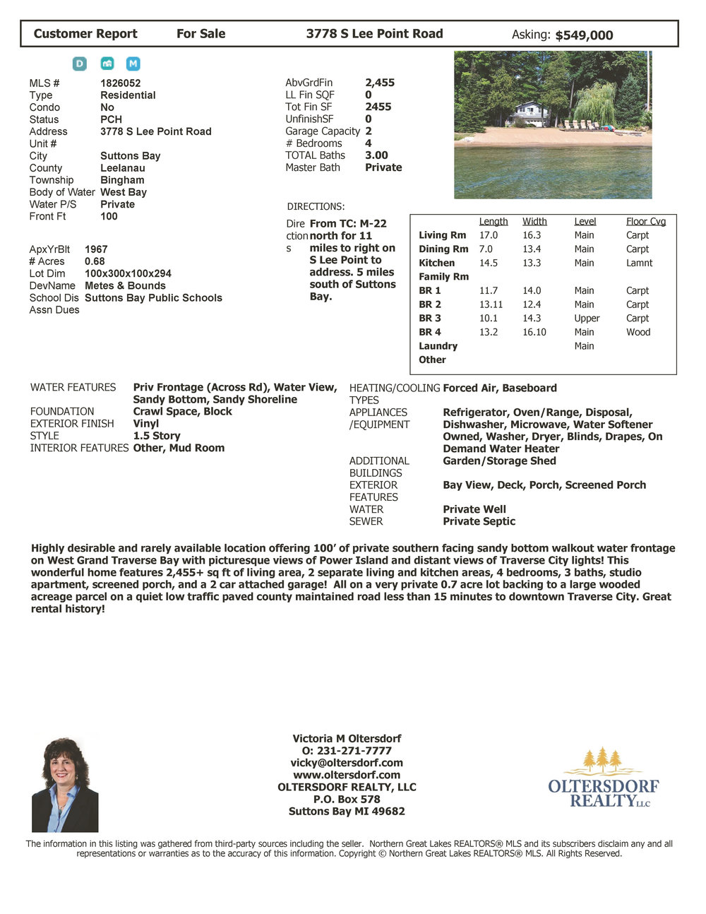 3778 S Lee Point Road, Suttons Bay waterfront home on West Grand Traverse Bay - Price Reduced.jpg