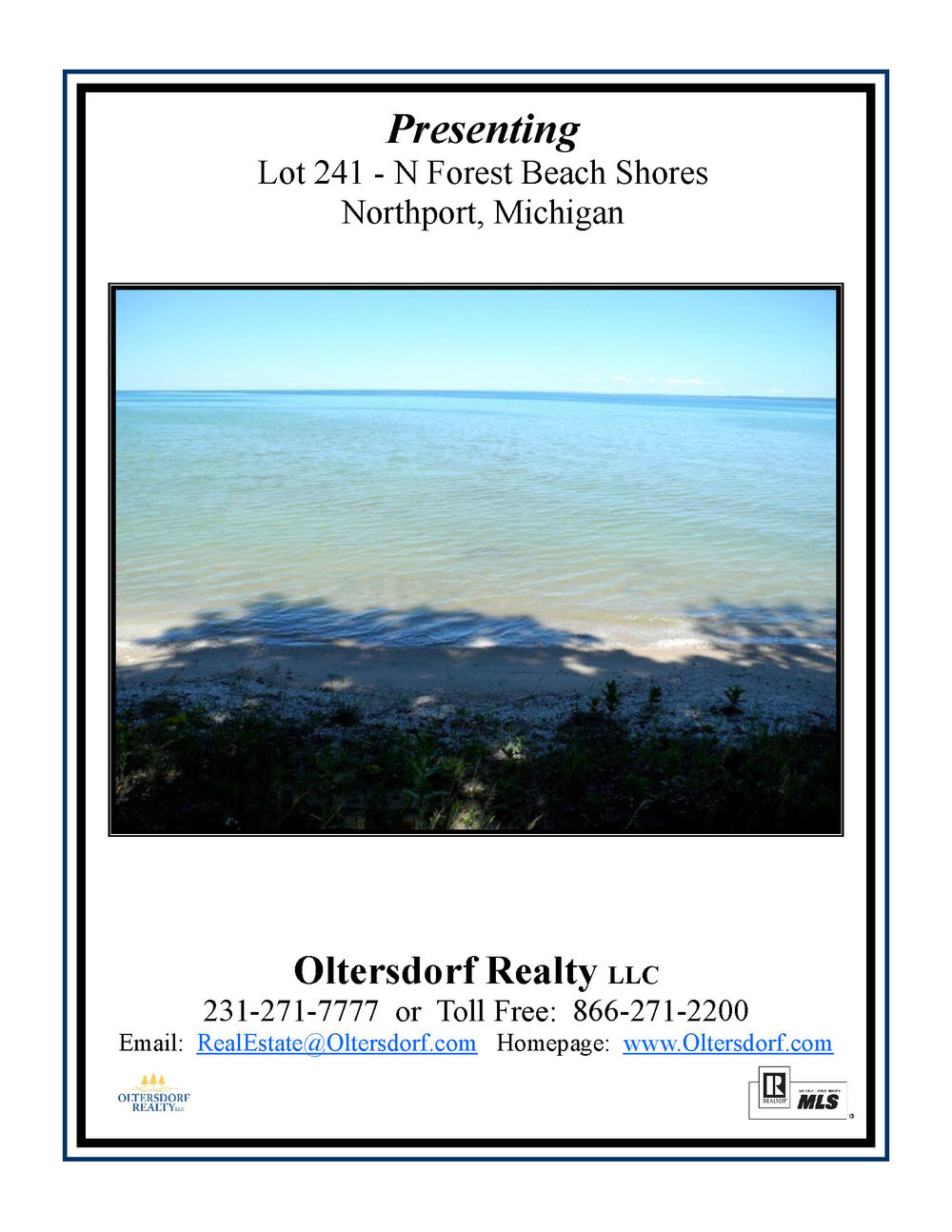 Lot 241 Forest Beach Shores, Northport waterfront lot in Leelanau County for sale by Oltersdorf Realty LLC Leelanau County Realtors (1).jpg