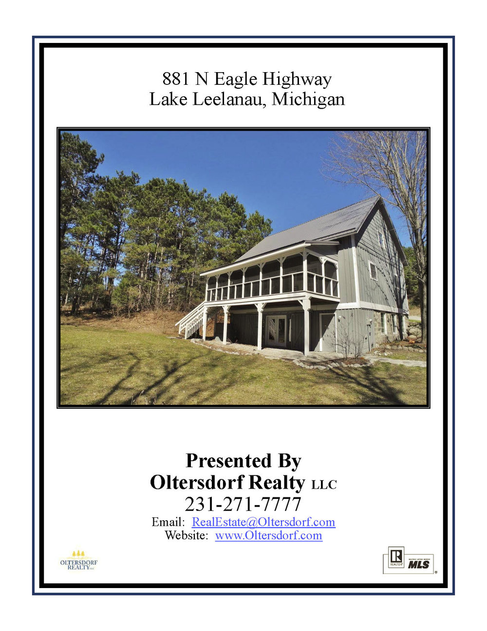 881 N Eagle Highway, Lake Leelanau, MI – Unique Post & Beam Home For Sale By Oltersdorf Realty LLC - Marketing Packet (1).jpg