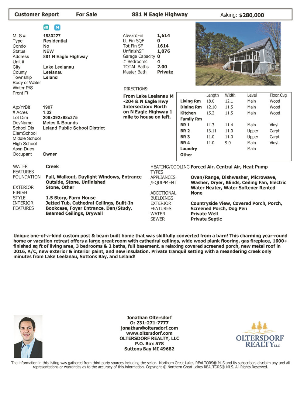 881 N Eagle Highway, Lake Leelanau, MI – Unique Post & Beam Home For Sale By Oltersdorf Realty LLC - Marketing Packet (8).jpg