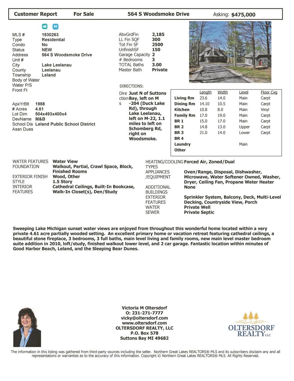 564 S Woodsmoke Drive, Lake Leelanau, MI – Sunset Lake Michigan Water Views - For Sale by Oltersdorf Realty - Marketing Packet (8).jpg