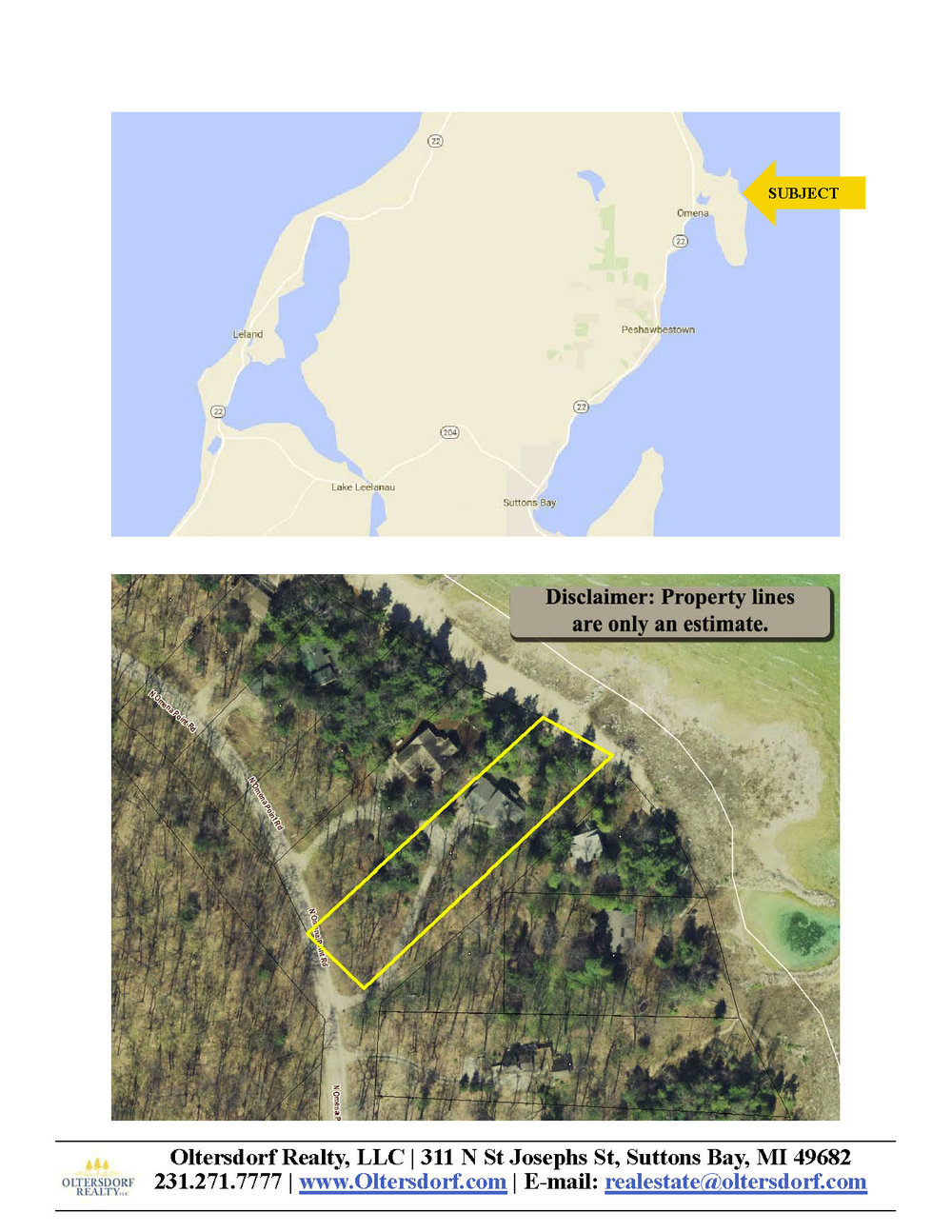 5290 N Omena Point Road, Omena, MI – 100' of Private Frontage on Grand Traverse Bay for sale by Oltersdorf Realty LLC (9) - Marketing Packet.jpg