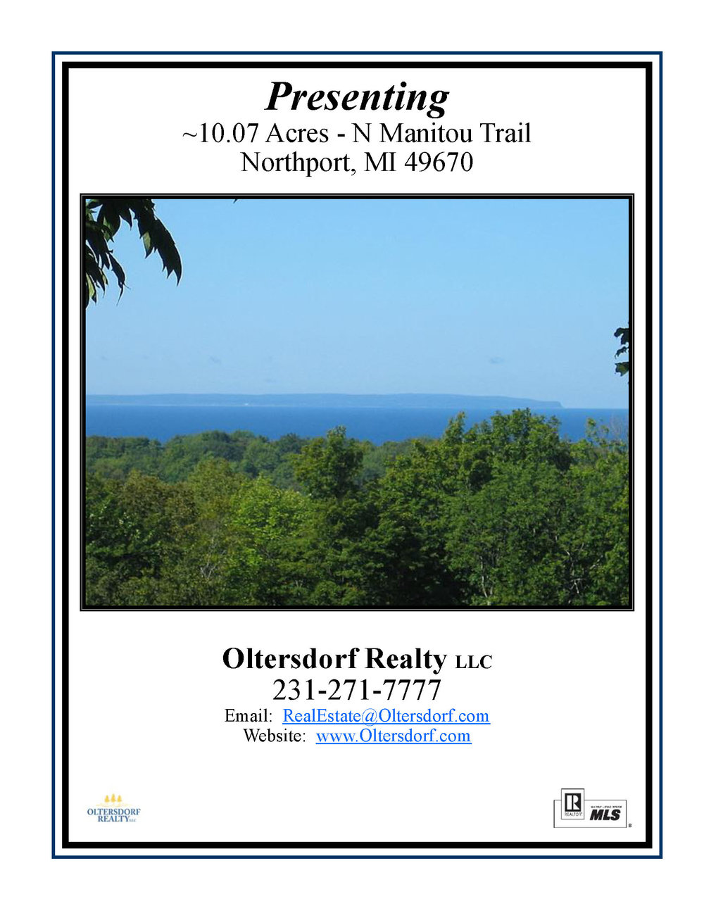 N Manitou Trail, Northport, Leelanau County, Vacant 10.07 Acreage parcel for sale by Oltersdorf Realty LLC (1).jpg