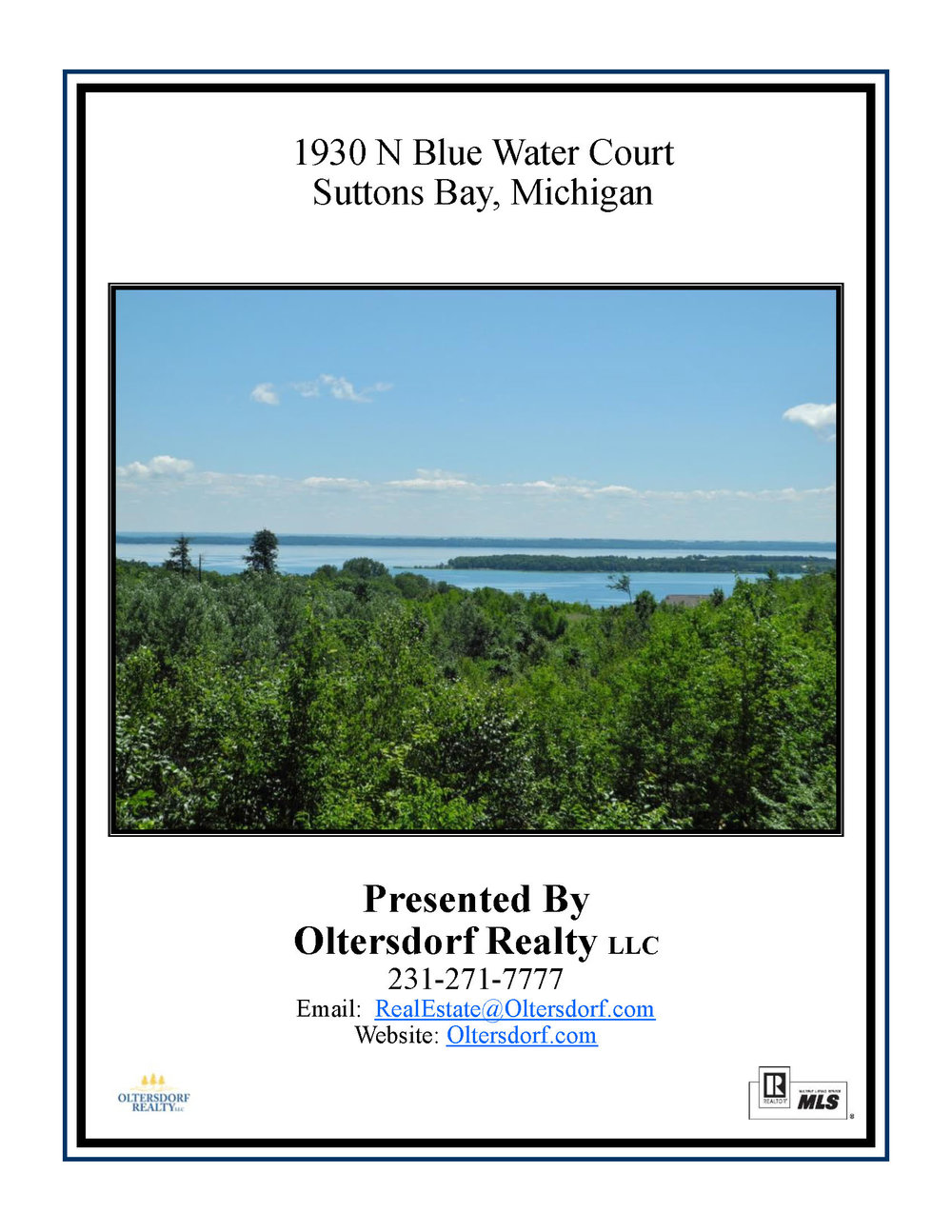 1930 N Blue Water Ct, Suttons Bay, Leelanau County, Vacant Waterview Lot For Sale By Oltersdorf Realty LLC - Marketing Packet (1).jpg