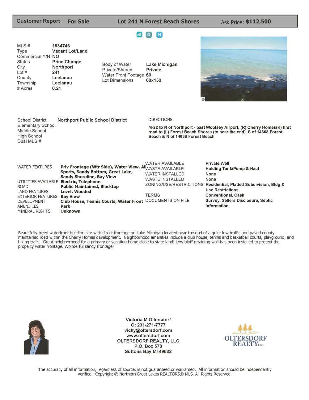 Lot 241 N Forest Beach, Northport 112,500 MLS.jpg