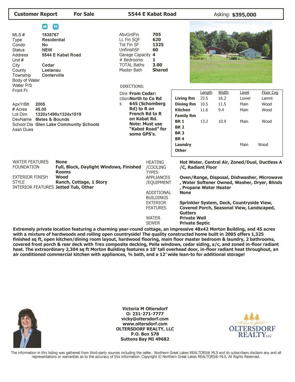 5544 E Kabat Road , Cedar - Marketing Packet for sale by Oltersdorf Realty LLC (8).jpg