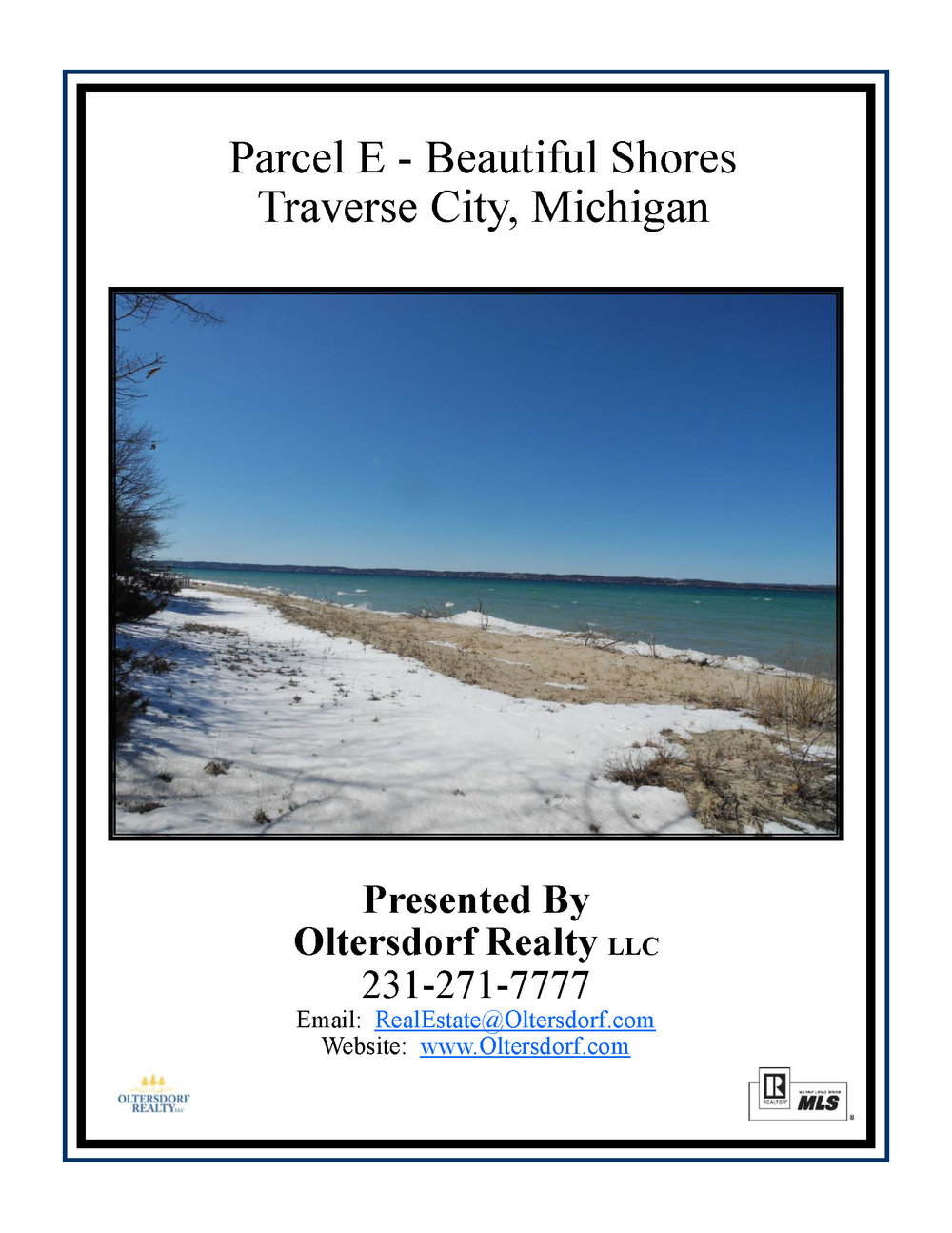 Parcel E - Beautiful Shores, Traverse City - Marketing Packet For Sale by Oltersdorf Realty LLC_Page_01.jpg