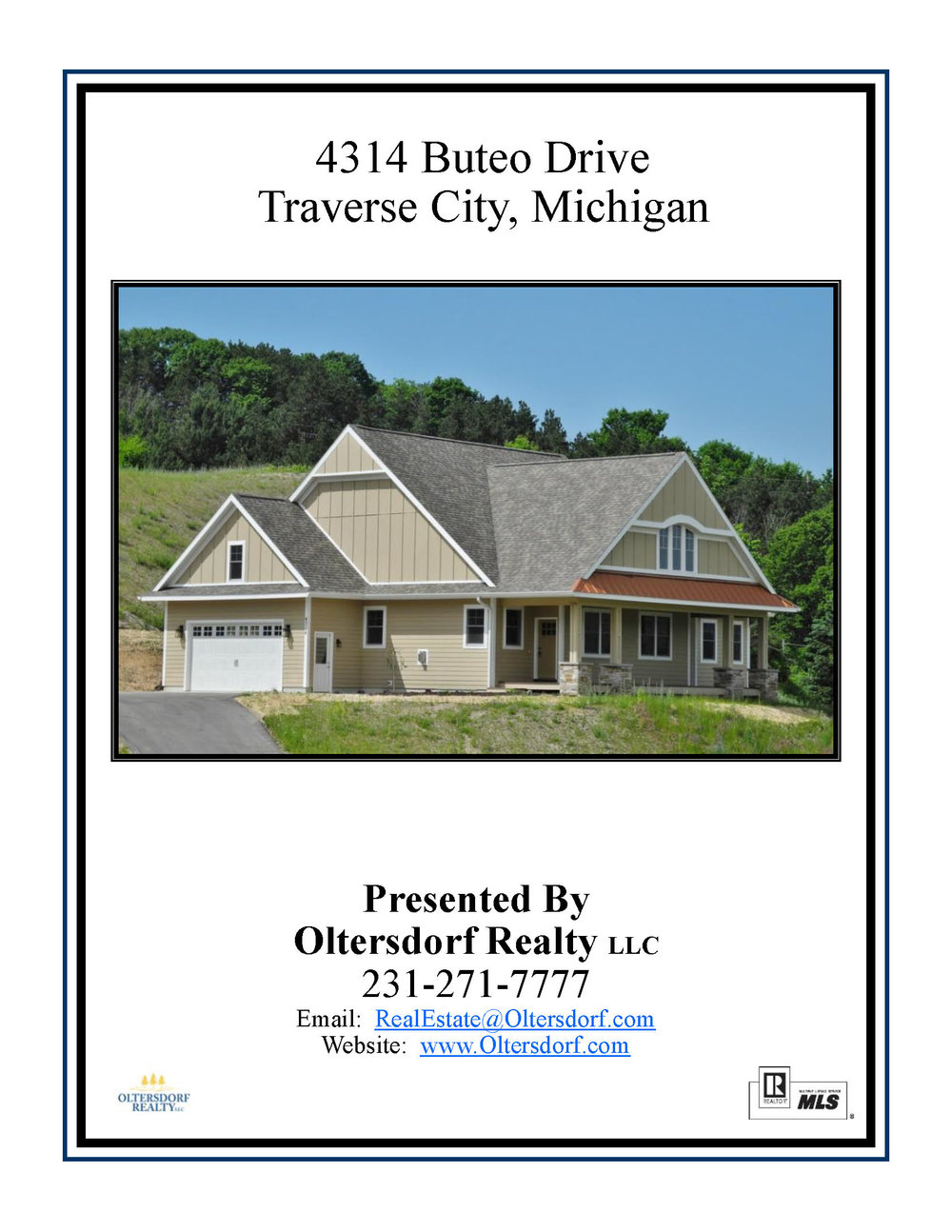 4314 Buteo Drive, Traverse City, MI – Newly Constructed Ranch Home Close To Downtown for sale by Oltersdorf Realty LLC - Marketing Packet (1).jpg