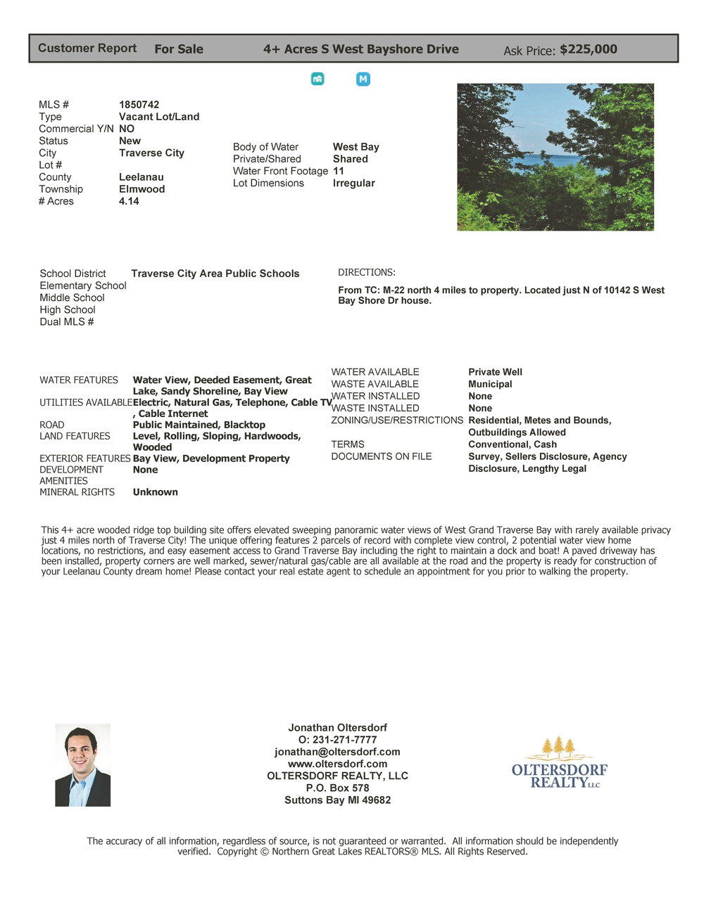 4+ Acres - S West Bayshore Drive, Traverse City – FOR SALE by Oltersdorf Realty - Marketing Packet (5).jpg
