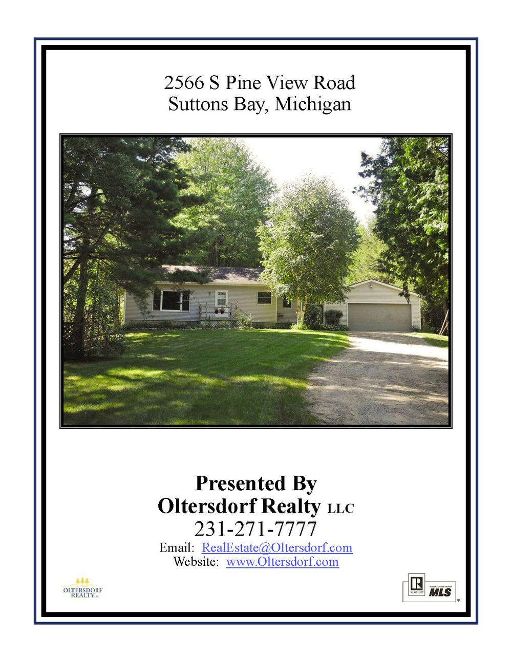 2566 S Pine View Road, Suttons Bay, MI – Affordable 3 Bedroom Suttons Bay Ranch Home for sale by Oltersdorf Realty - Marketing Packet (1).jpg