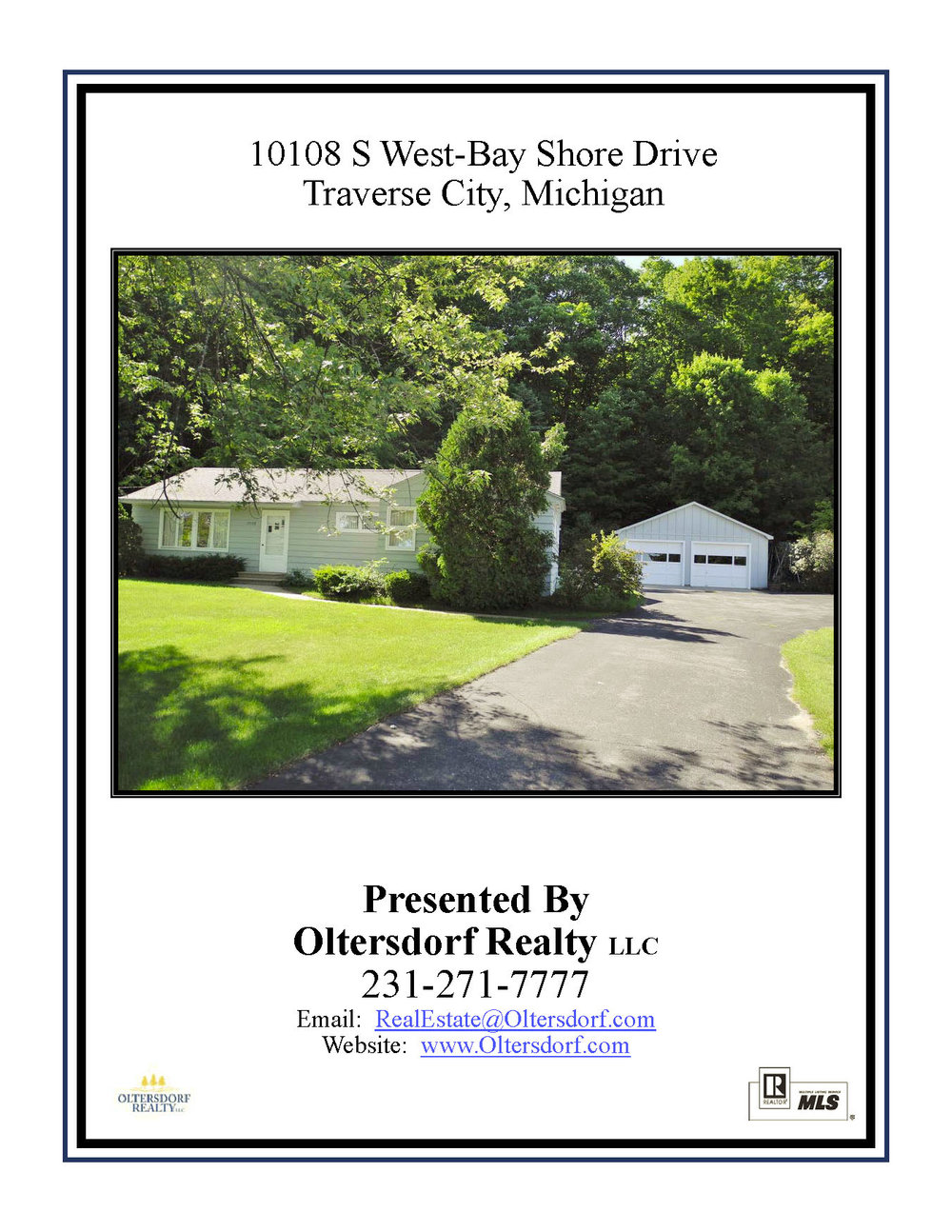 10108 S West Bay Shore Drive, Traverse City, MI – Ranch Home & 106' on West Grand Traverse Bay - Marketing Packet by Oltersdorf Realty LLC (1).jpg