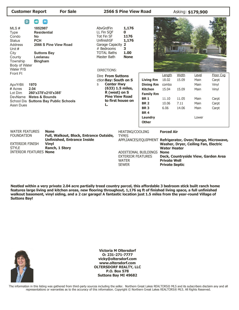 2566 S Pine View Road, Suttons Bay - For Sale by Oltersdorf Realty LLC (price change).jpg