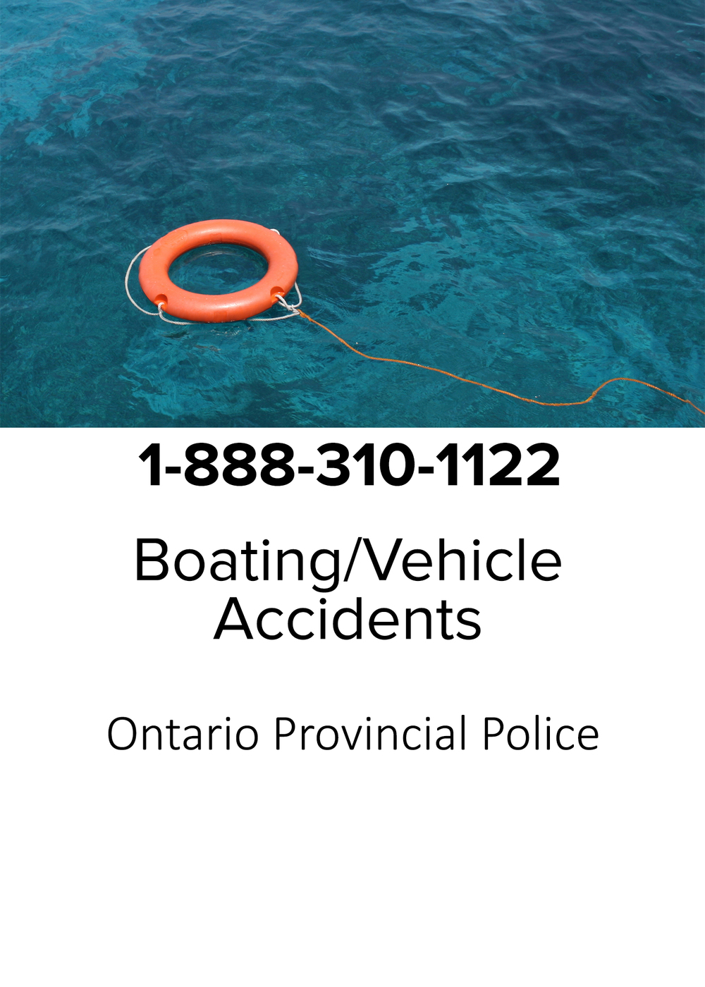 Boating or Vehicle accidents