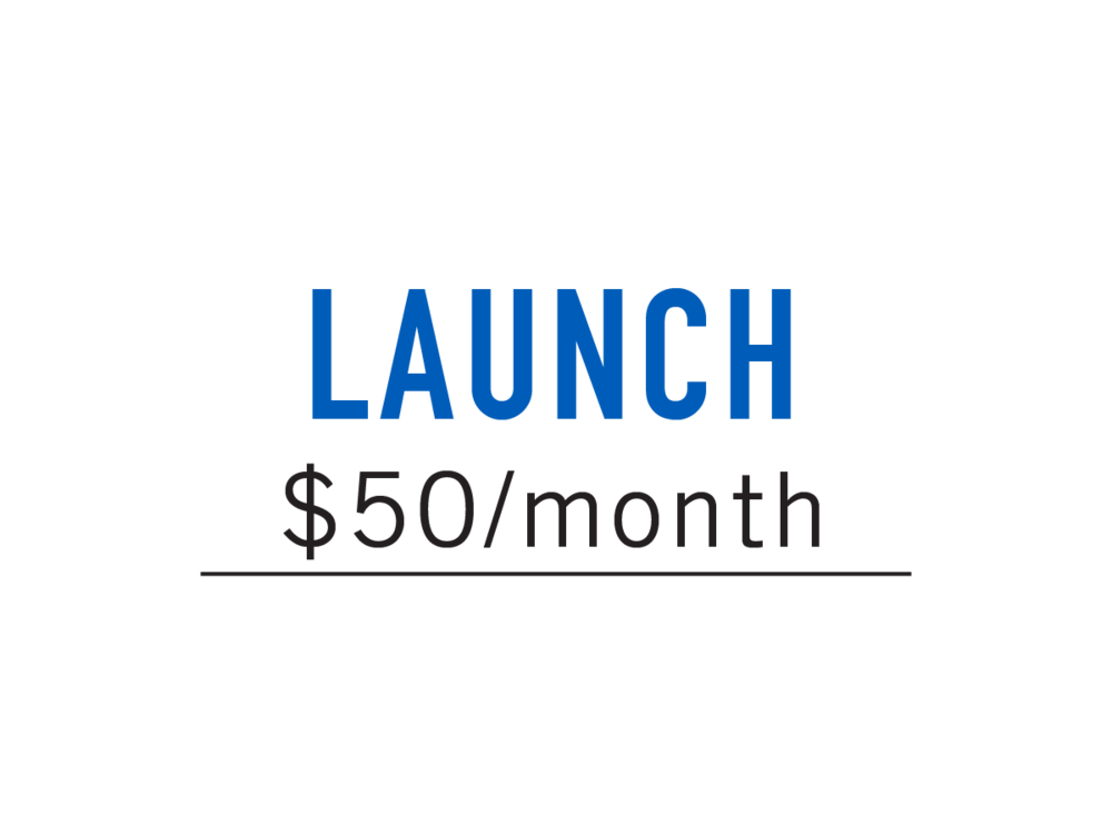 GREAT FOR EARLY STAGE STARTUPS SEEKING TO LAUNCH A SERVICE OR PRODUCT.