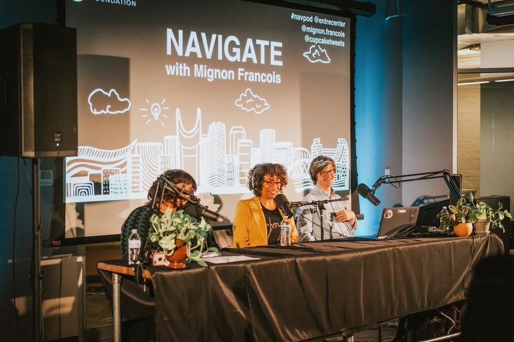 Mignon Francois at the Navigate Live Podcast Launch event.