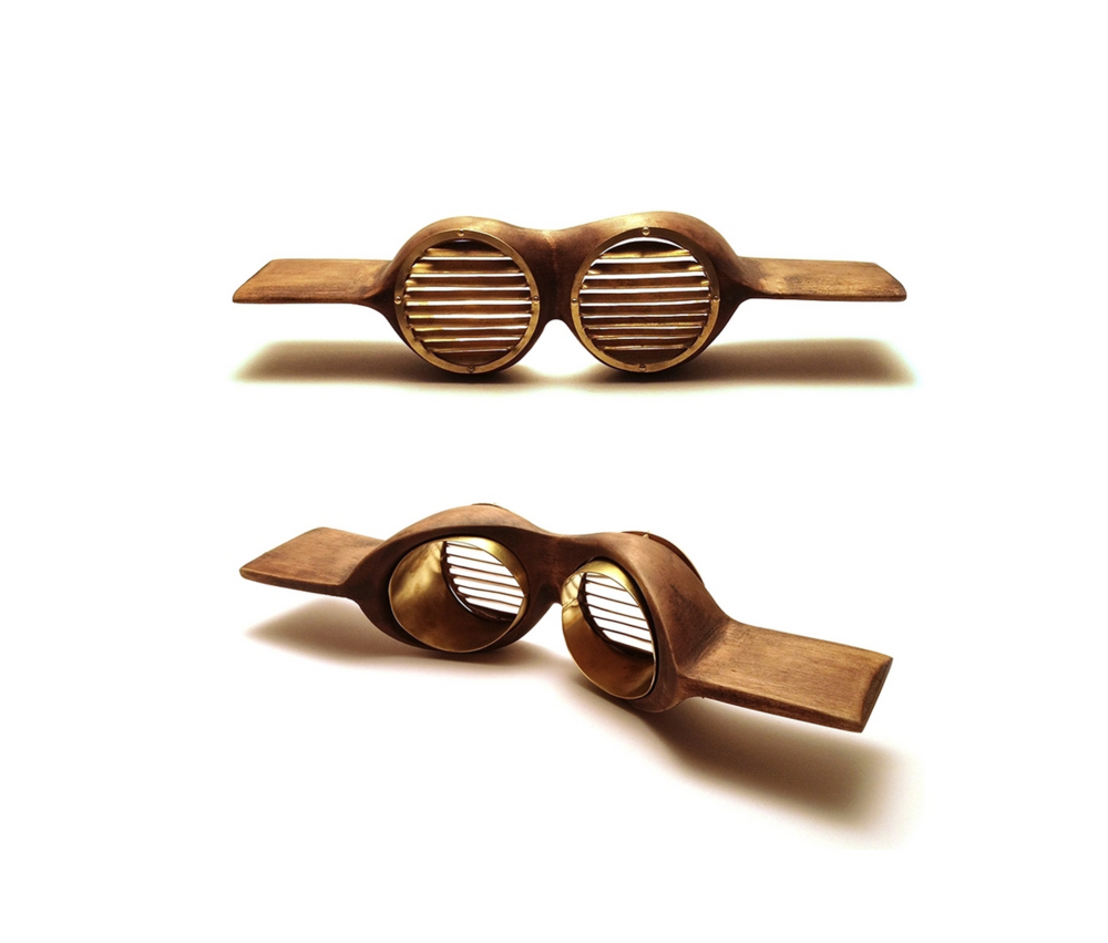 The Cloud Climber's Aviators  Wood, Brass    From Tools
