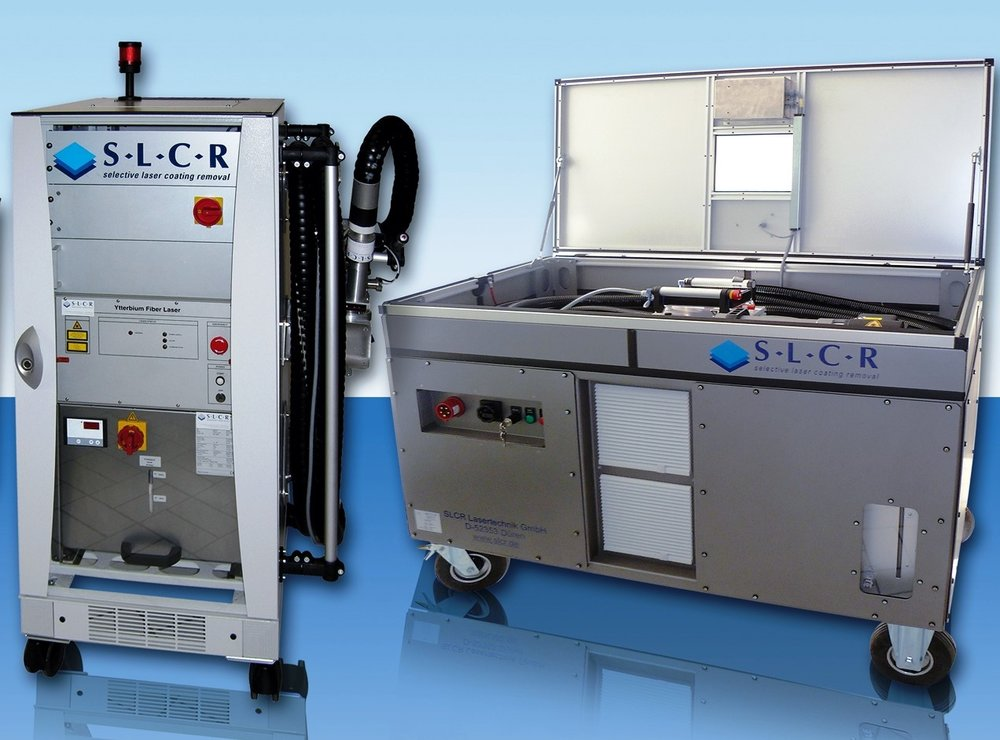 SLCR: o.a. reinigen, ontlakken en opruwen middels lasertechniek