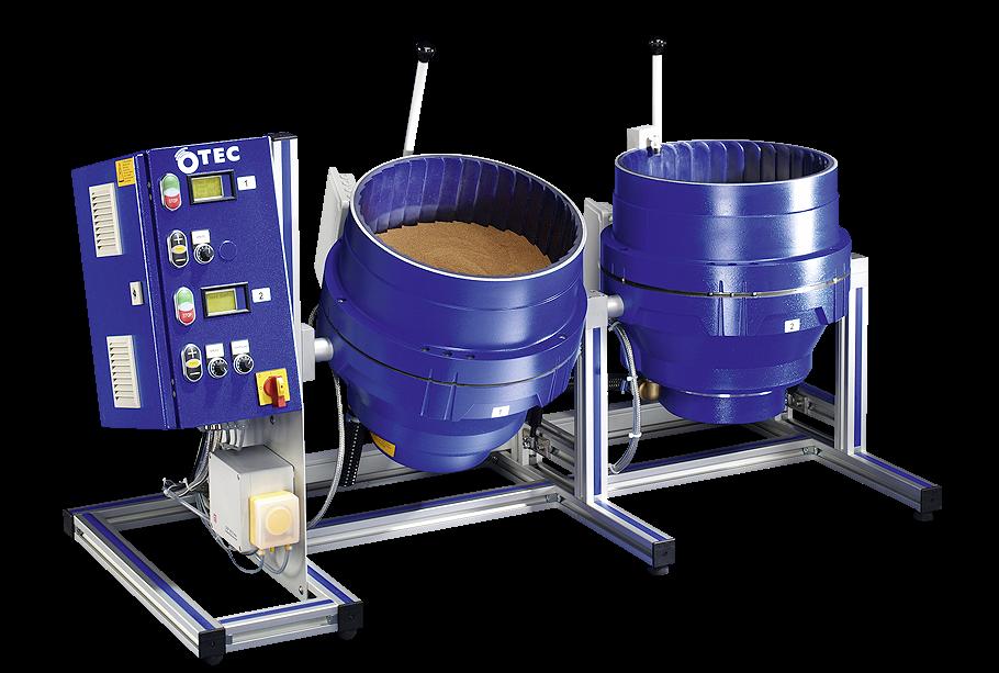 CF-T: tafelmodel - - CF-versie die op een tafel kan worden geplaatst-9L en 18L containers, geschikt voor kleinere batches- Veelal ingezet in de juwelen-industrie