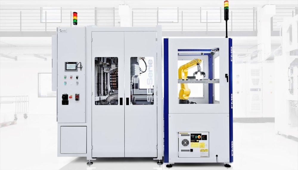 Automatische belading - - Automatische productopname in machine-Geschikt voor grote productie aantallen- Te integreren in geautomatiseerde productielijn-Maximaal 5 producten gelijktijdig bewerken