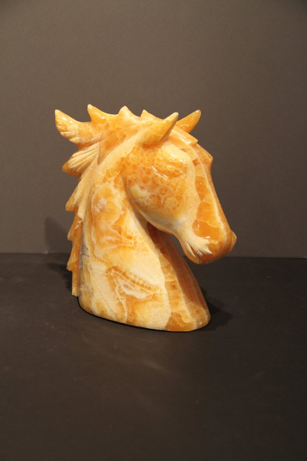 Orange Calcite Horse